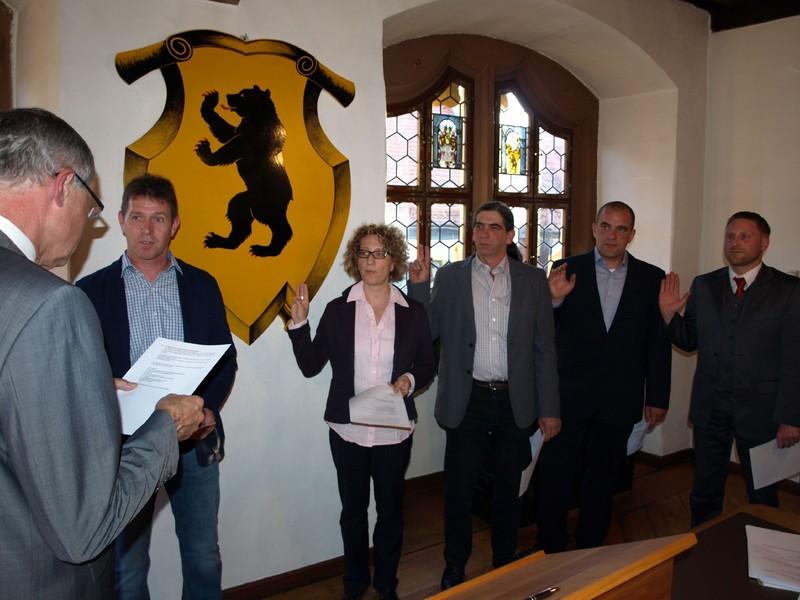 Vereidigung der neuen Stadtratsmitglieder   Foto: T. Lechner