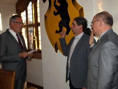 Vereidigung der weiteren Bürgermeister   Foto: T. Lechner