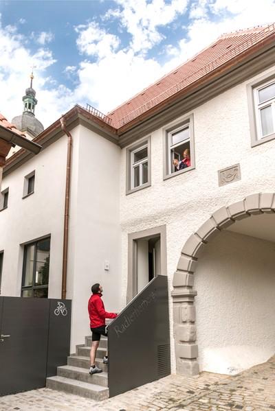Eingang Radlerherberge