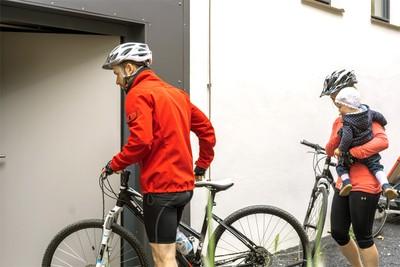 Abgeschlossener Fahrradkeller