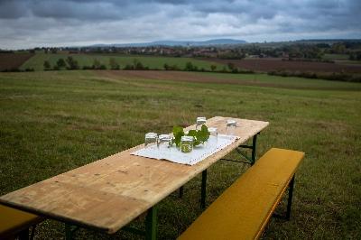 Brotzeit-Tisch