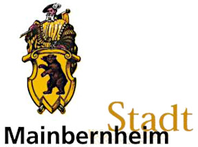 Logo der Stadt Mainbernheim, Wappen mit Schweizer und Schriftzug