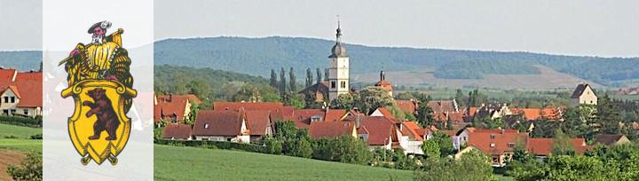 Blick auf Mainbernheim vom Dornberg aus Richtung Kitzingen